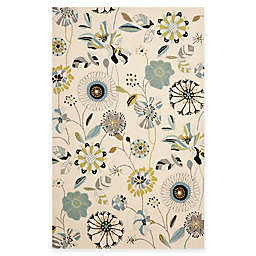 Safavieh Four Seasons 5-Foot x 8-Foot Area Rug in Ivory/Blue