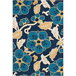 Safavieh Four Season Vine 3-Foot 6-Inch x 5-Foot 6-Inch Area Rug in Navy Multi