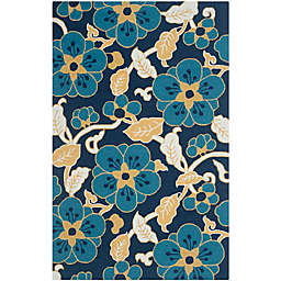 Safavieh Four Season Vine 5-foot x 8-Foot Area Rug in Navy Multi