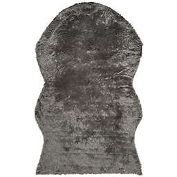 Safavieh Faux Sheep Skin Hide 5-Foot x 8-Foot Area Rug in Grey