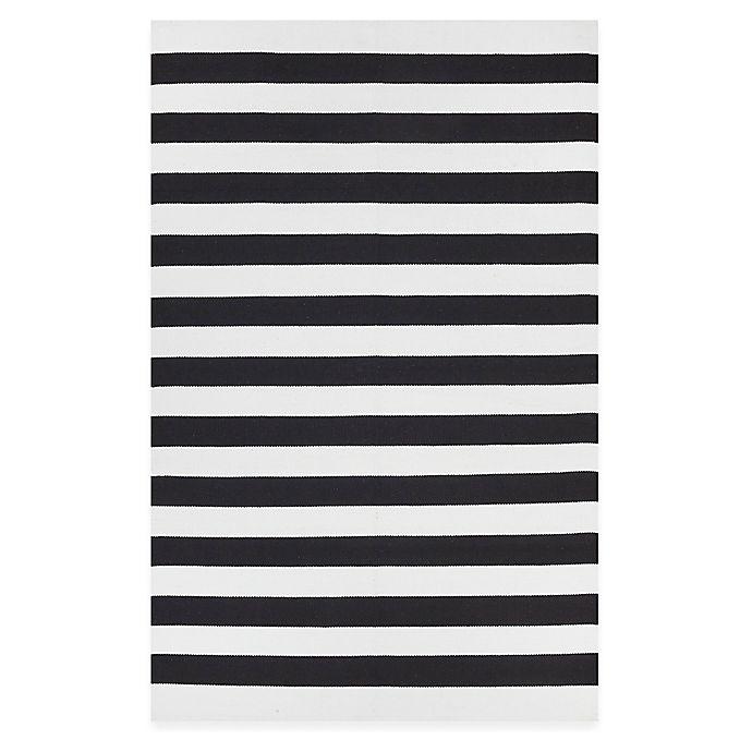 Alternate image 1 for Fab Habitat Nantucket Stripe Accent Rug in Black/White