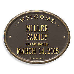 Whitehall Products Welcome House Plaque in Bronze/Gold Finish