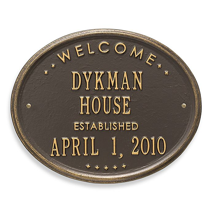 Alternate image 1 for Whitehall Products Oval Welcome House Plaque