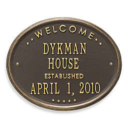 Whitehall Products Oval Welcome House Plaque