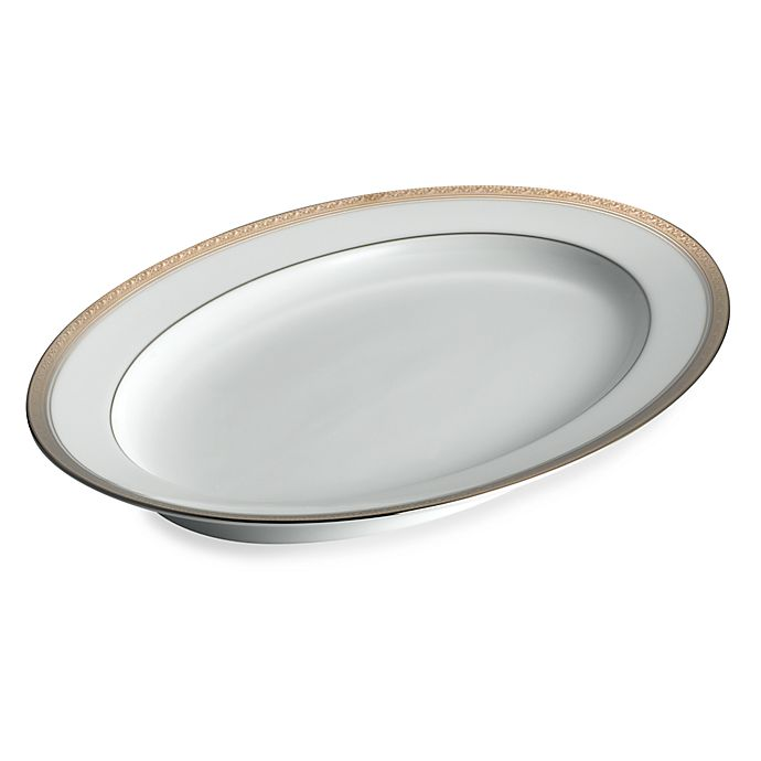 Alternate image 1 for Noritake® Crestwood Platinum 16-Inch Oval Platter