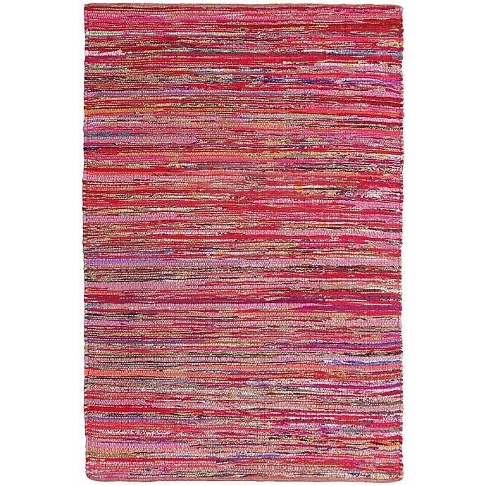 Alternate image 1 for Aurora Chindi Rug in Red