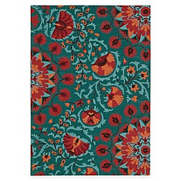 Nourison Suzani Rug in Teal