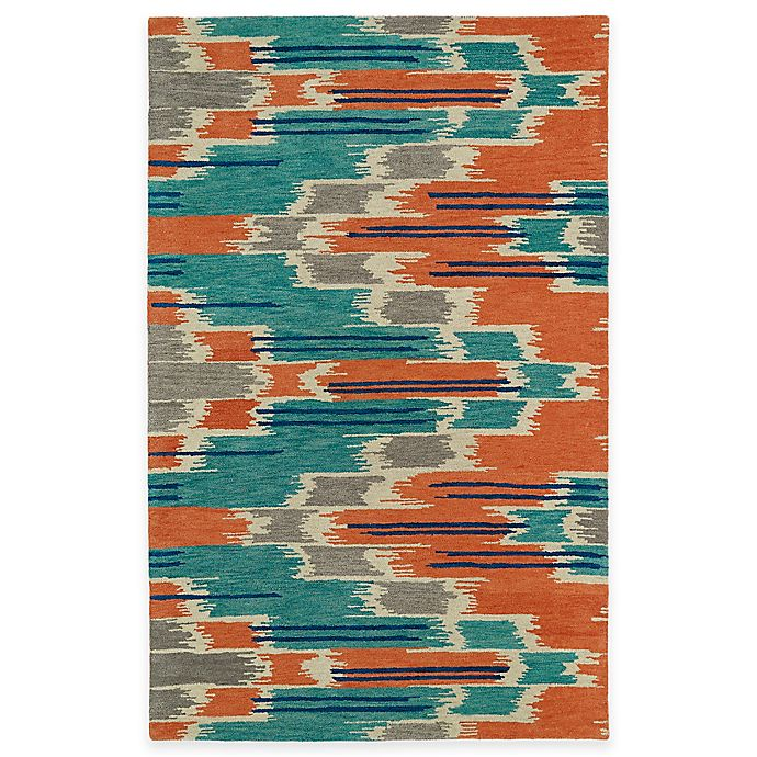 Alternate image 1 for Kaleen Global Inspirations Watercolor Ikat Multicolor 5-Foot x 7-Foot 9-Inch Area Rug
