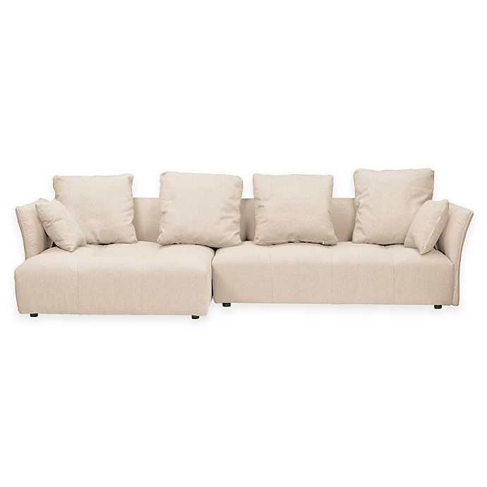 Baxton Studio Abbott Upholstered Sectional Sofa With Left