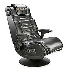 X-Rocker Pro Series 2.1 Pedestal Wireless Gaming Chair in Black with Rails