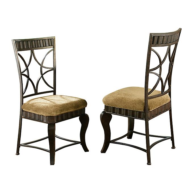 Surprising Steve Silver Hamlyn Dining Side Chairs In Pewter Set Of 2 Interior Design Ideas Tzicisoteloinfo