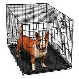 OxGord® Metal Double Door Pet 36-Inch Crate in Black