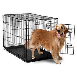 OxGord® Metal Double Door Pet Crate in Black