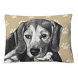 Laural Home Beagle Sketch Fleece Dog Bed