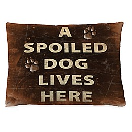 "Laural Home ""A Spoiled Dog"" Fleece Dog Bed"