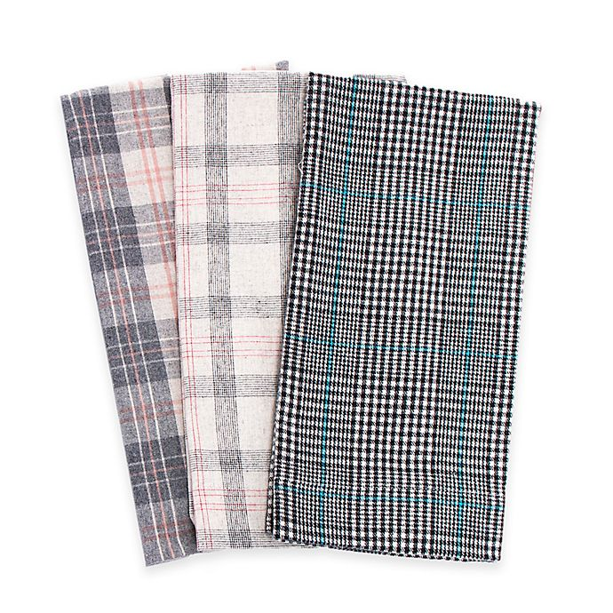 Alternate image 1 for Belle Epoque La Rochelle Collection Plaid Heathered Flannel Sheet Set