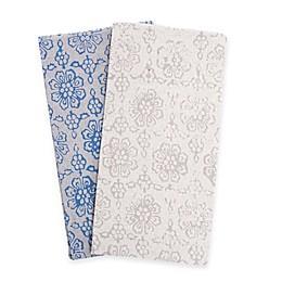 Belle Epoque La Rochelle Collection Floral Print Heathered Flannel Sheet Set