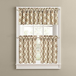 Woodland Plaid Kitchen Window Curtain Tiers and Valance