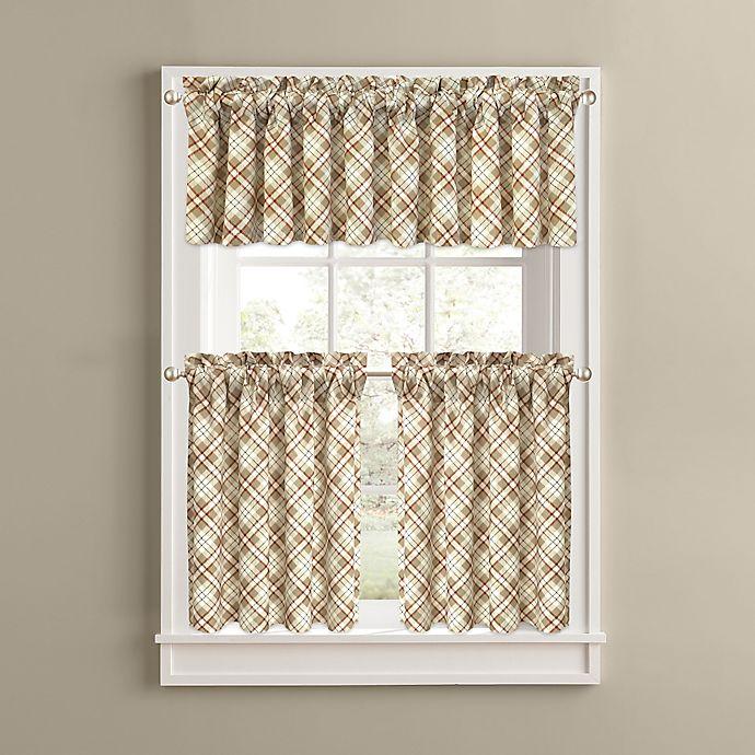 Woodland Plaid Kitchen Window Curtain Tiers