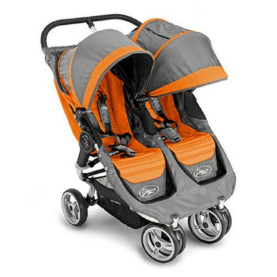 Baby Jogger City Mini Double Stroller Orange Amp Grey