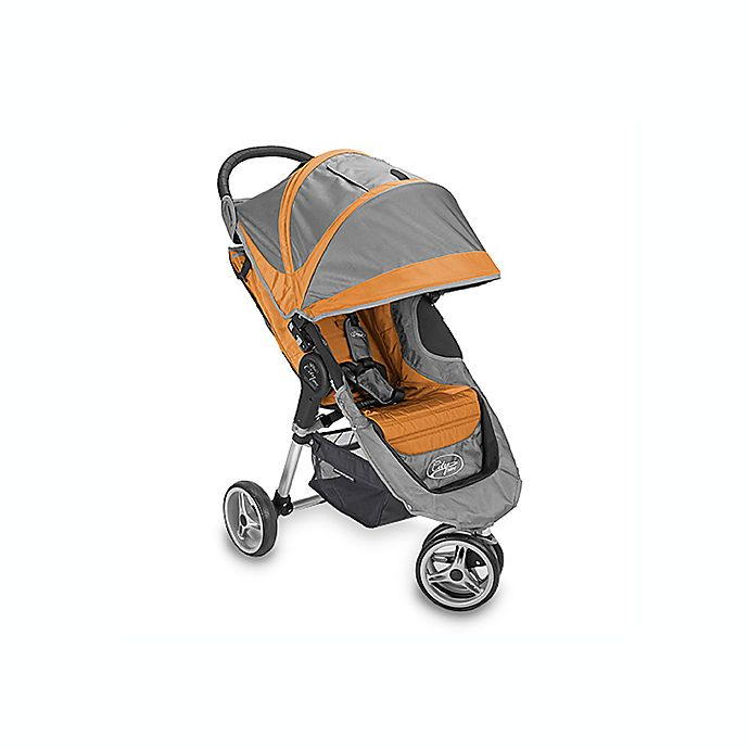 Baby Jogger City Mini Single Stroller Orange Grey Bed Bath