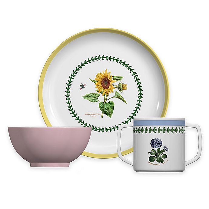 Alternate image 1 for Portmeirion® Botanic Garden 3-Piece Children's Multicolored Plate and Bowl Set