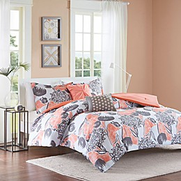 Intelligent Design Marie Comforter Set in Coral