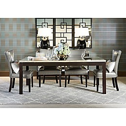 Bassett Mirror Company Nelson Shaped Parsons Dining Chairs and Taney Dining Table Collection