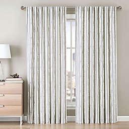 Be Artistic Ellis Painted Stripe Rod Pocket/Back Tab Window Curtain Panel