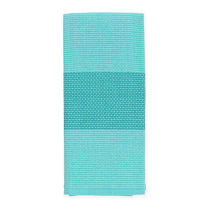 Alternate image 1 for kate spade new york Color Block Honeycomb Kitchen Towel