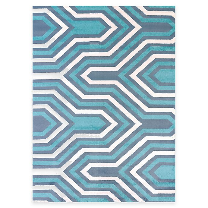 Alternate image 1 for United Weavers Modern Texture Cupola 5-Foot 3-Inch x 7-Foot 2-Inch Area Rug in Blue