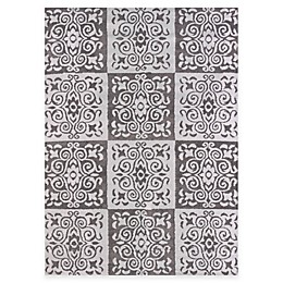 United Weavers Modern Texture Velvet Cube Indoor/Outdoor Area Rug in Silver