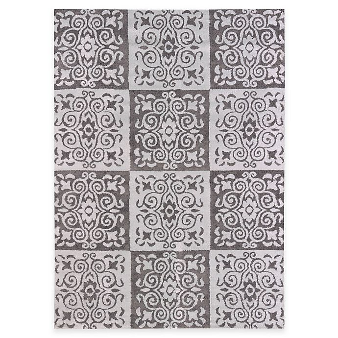 Alternate image 1 for United Weavers Modern Texture Velvet Cube 7-Foot 10-Inch x 10-Foot 6-Inch Indoor/Outdoor Area Rug