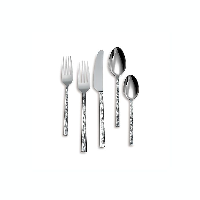 Alternate image 1 for Vera Wang Wedgwood® Hammered 5-Piece Flatware Place Setting