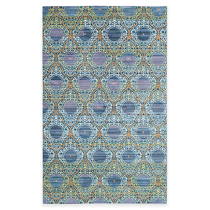 Alternate image 1 for Safavieh Valencia Mirrors 3-Foot x 5-Foot Area Rug in Lavender/Gold