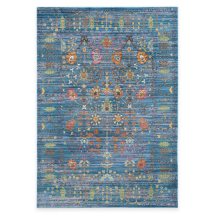 Alternate image 1 for Safavieh Valencia Forest 4-Foot x 6-Foot Area Rug in Blue/Multi