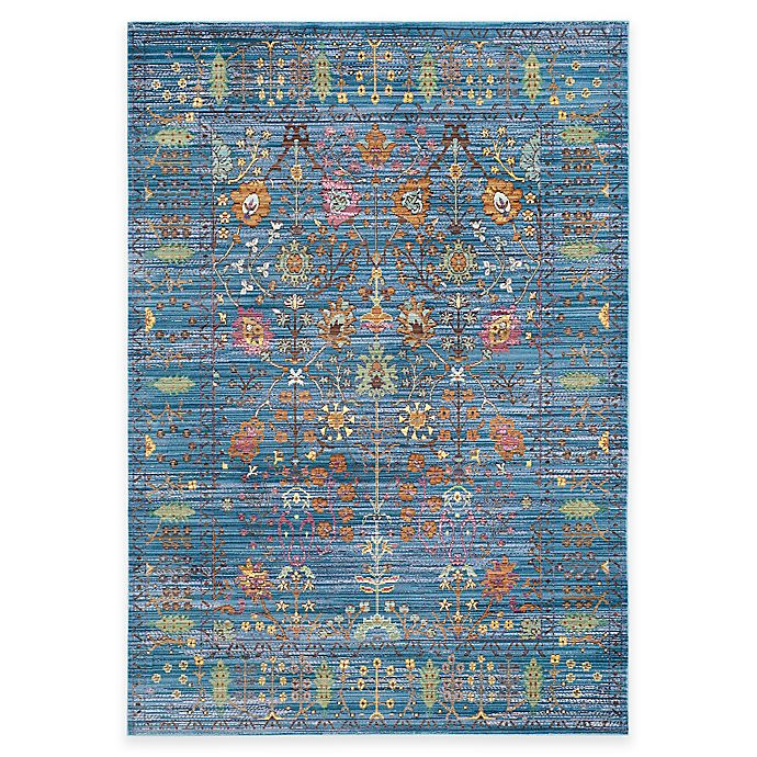 Alternate image 1 for Safavieh Valencia Forest 6-Foot x 9-Foot Area Rug in Blue/Multi