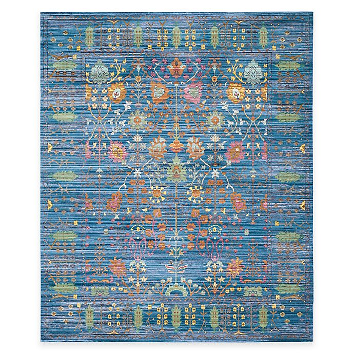 Alternate image 1 for Safavieh Valencia Forest 8-Foot x 10-Foot Area Rug in Blue/Multi