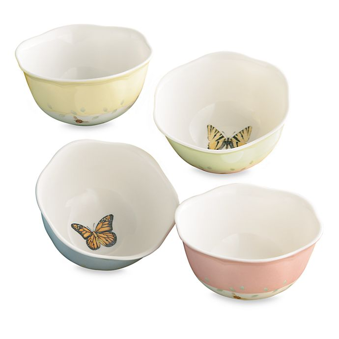 Alternate image 1 for Lenox® Butterfly Meadow® 4.75-Inch Dessert Bowl (Set of 4)
