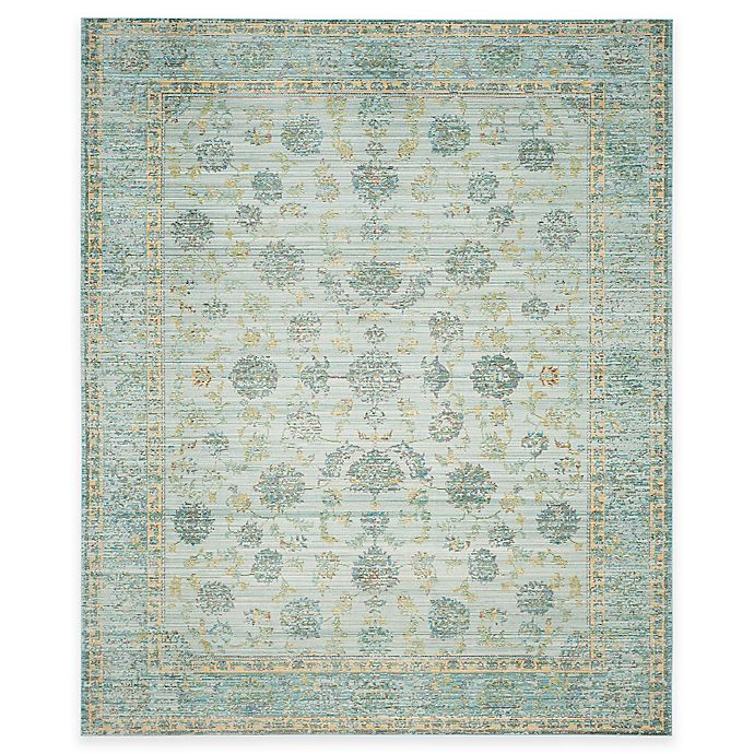 Alternate image 1 for Safavieh Valencia Theo 8-Foot x 10-Foot Area Rug in Light Blue/Turquoise