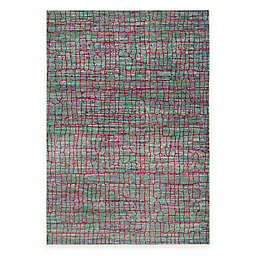 Safavieh Valencia Cracked 5-Foot x 8-Foot Area Rug in Green/Red