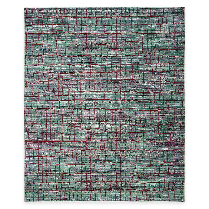 Alternate image 1 for Safavieh Valencia Cracked 8-Foot x 10-Foot Area Rug in Green/Red