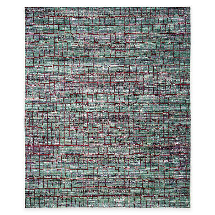 Alternate image 1 for Safavieh Valencia Cracked 9-Foot x 12-Foot Area Rug in Green/Red