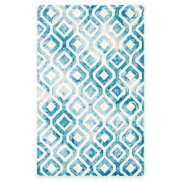 Safavieh Dip Dye Mod Diamond 5-Foot x 8-Foot Area Rug in Ivory/Blue