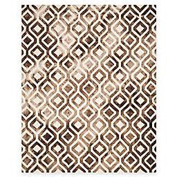 Safavieh Dip Dye Mod Diamond 8-Foot x 10-Foot Area Rug in Ivory/Chocolate
