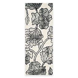 Safavieh Dip Dye Floral 2-Foot 3-Inch x 6-Foot Runner in Ivory/Grey