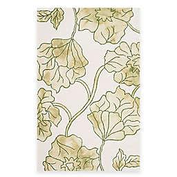 Safavieh Dip Dye Floral 4-Foot x 6-Foot Area Rug in Ivory/Green