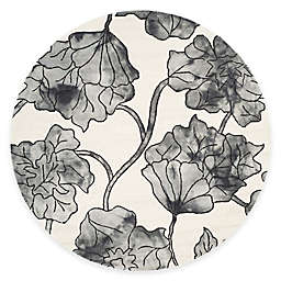 Safavieh Dip Dye Floral 7-Foot Round Area Rug in Ivory/Grey