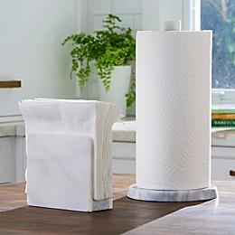 Artisanal Kitchen Supply® White Marble Paper Towel Holder