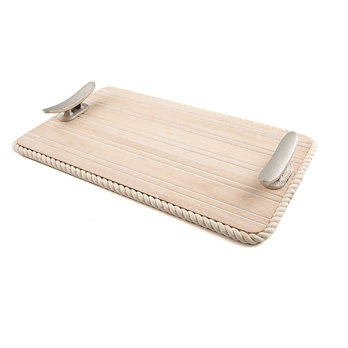 Alternate image 1 for Thirstystone Resources® 19-Inch Rectangular Handled Serving Tray